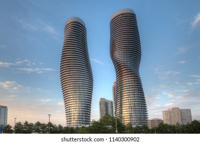 MISSISSAUGA, ONTARIO/CANADA- JULY 21, 2018: The Absolute World, condominiums found in Mississauga, Canada