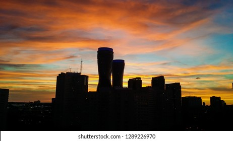 Mississauga Towers at Sunset