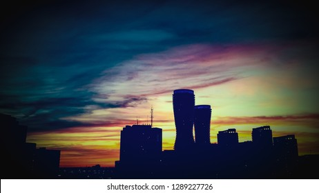 Mississauga Towers at Sunset , canada