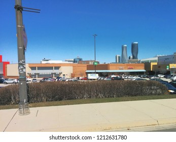 Mississauga's Square One, looking into Parking 6 and the west side of the mall. Shot on April 16, 2016 in Mississauga, Ontario, Canada.