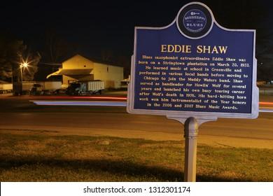 Mississippi Blues Trail Sign Eddie Shaw