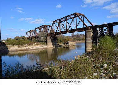Mississippi Central Railroad bridge crossing the Little Tallahatchie River in Lafayette County Mississippi