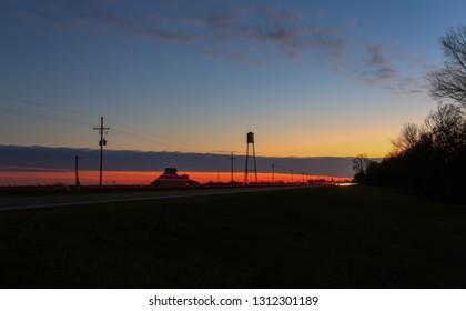 Mississippi Delta at Twilight