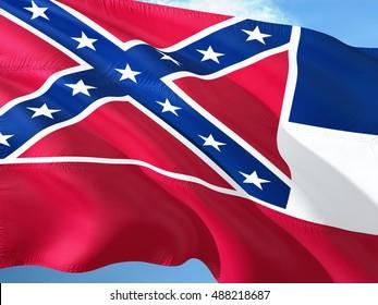 Mississippi flag on the mast