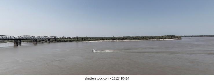 Mississippi river bend at Vicksburg