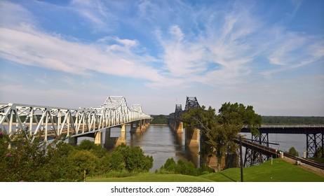 Mississippi River bridge from Vicksburg, Mississippi to Delta, Louisiana