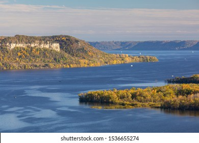Mississippi River Scenic Autumn Landscape