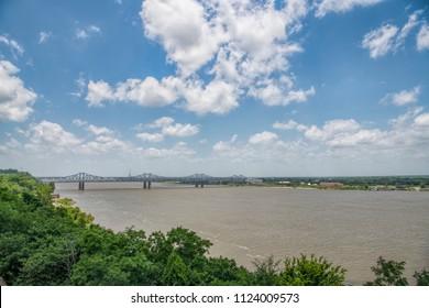 Mississippi River View from Natchez Bluffs