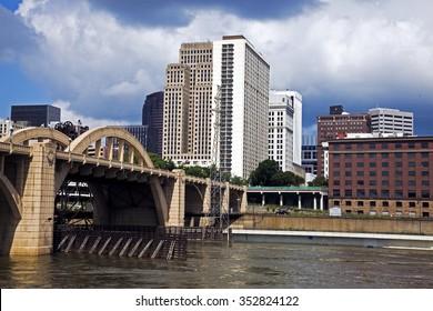 Mississippi in St. Paul, Minnesota, USA.
