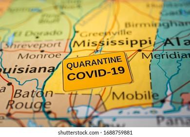 Mississippi state Covid-19 Quarantine background