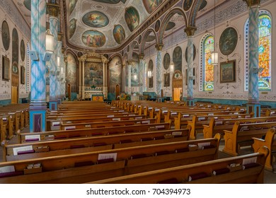 MISSOULA, MONTANA - JULY 20: St. Francis Xavier Church on W Pine Street on July 20, 2017 in Missoula, Montana