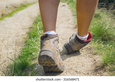 Missteps of amateurs hikers, main causes for ankle injury (focus on injured foot). An ankle sprain occurs when an bad twisting of the joint results in a ligament injury.