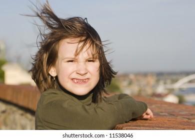 missy in wind