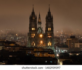 Mist and a Cathedral in Quito, Ecuador