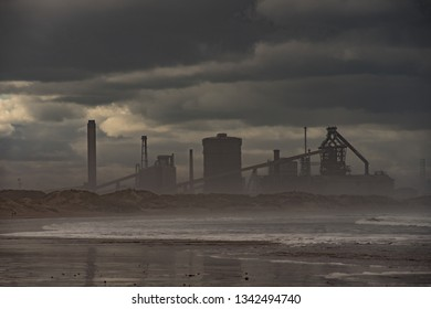 Mist covered industry at Redcar.