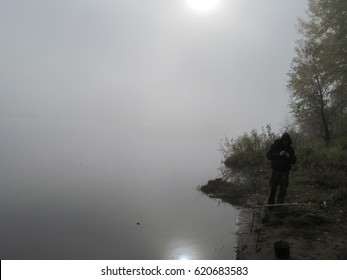 mist on morning river