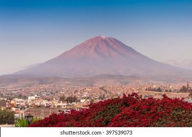 Misti volcano, near Arequipa city, Peru