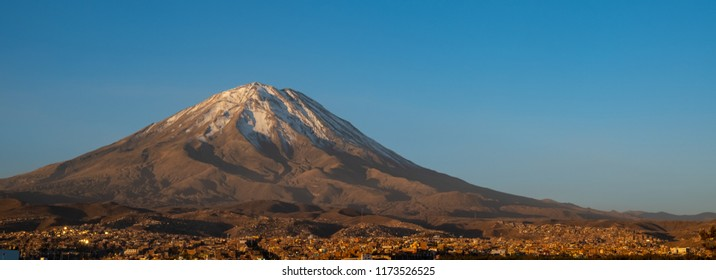 Misti volcano and a view of the city of Arequipa
