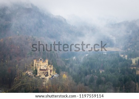Misty day at Hohenschwangau