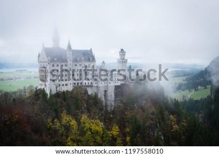 Misty day at Neuschwanstein