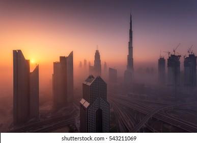 The Misty Dubai Morning