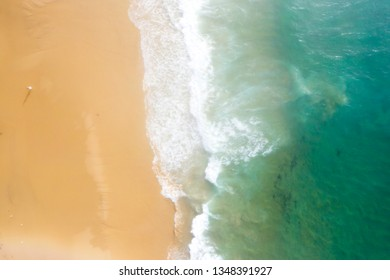 Misty early morning Drone image of Wilderness beach, Point Hicks, Victoria Australia