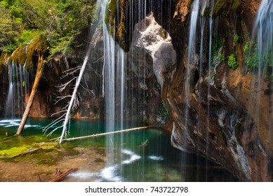 Misty Falls at Hanging Lake near Glenwood Springs Colorado