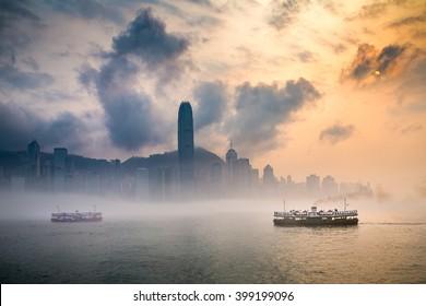 Misty Harbor - Victoria Harbor of Hong Kong
