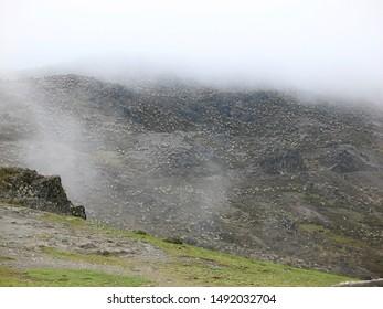 Misty landscape in moorland, Merida, Venezuela