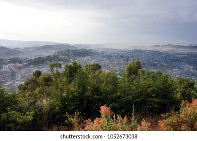 Misty morning in Gondar Ethiopia