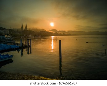 Misty morning in Lucerne, 18 May 2018
