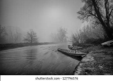 Misty morning near the Ticino river - Italy