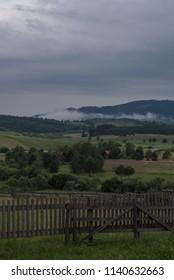 misty morning on mountain
