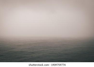 misty morning on the sea