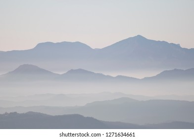 Misty Mountains in Bellmunt (Barcelona, Catalonia)
