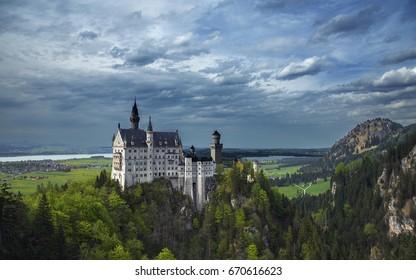Misty Neuschwanstein Castle