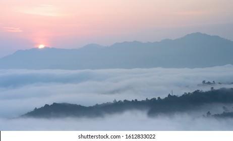 Misty sea, Phu Sala, Sukhirin, Nakhon Si Thammarat