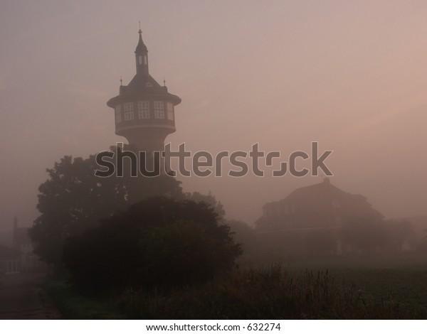 Misty tower