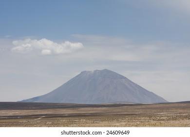 Misty Volcano, Arequipa, Peru