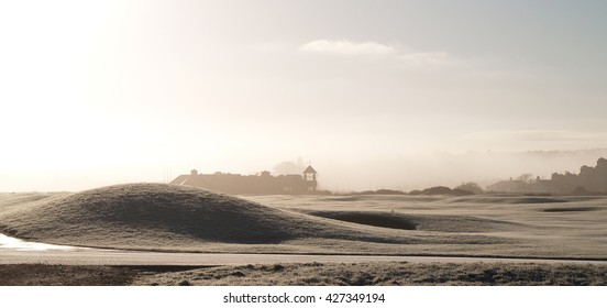 A misty winter morning in St. Andrews, Scotland