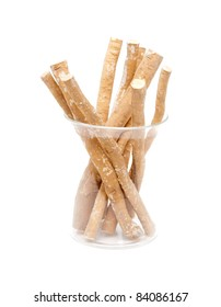 Miswak stick in a glass