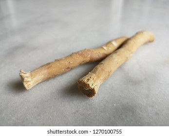 Miswak wood use for brush a teeth and mouth cleaning. A way Muslim sunnah for mouth care. Blurred some area to sharp and focus to some area