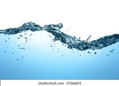 Wasseroberfl?che mit Blasen und Wellen