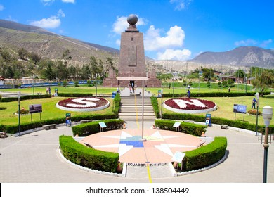 Mitad Del Mundo (Middle of the World) Monument near Quito, Ecuador.