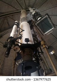 Mitaka,Tokyo. March​ 21,2019: Telescope was originally used for solar prominence observation since 1931. At National Astronomical Observatory of Japan,