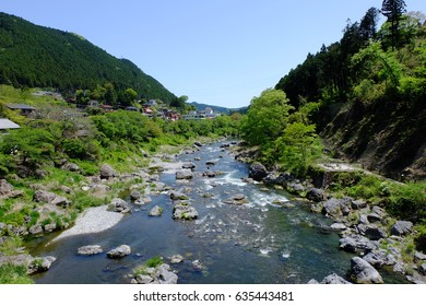 Mitake valley, view form Unosebashi (Unose bridge), Ome, Tokyo, Japan
