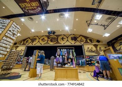 Mitchell, South Dakota, USA - July 2, 2017: The World's Only Corn Palace Interior in Mitchell, USA