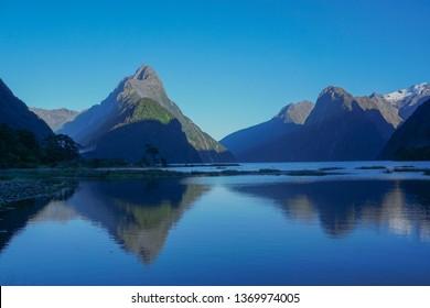 Mitre Peak, Milford sound, New Zealand