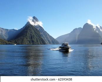 Mitre Peak, Milford Sound,New Zealand