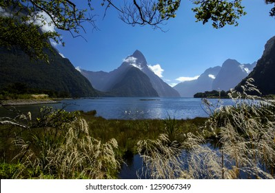 Mitre Peak (Rahotu), a mountain on the shore of Milford Sound in Fiordland National Park on the south island of New Zealand. A UNESCO World Heritage Site.